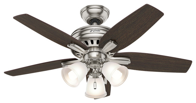 Hunter newsome brushed nickel 42 ceiling fan with light hunter newsome brushed nickel 42 ceiling fan with light traditional ceiling fans aloadofball Choice Image