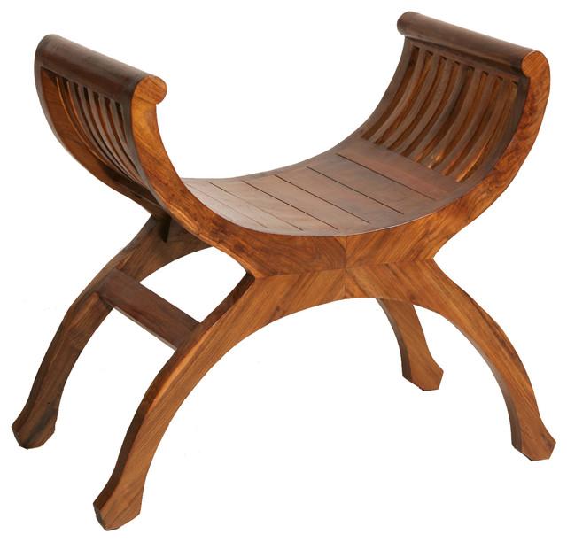 Yuyu Teak Accent Chair, Honey