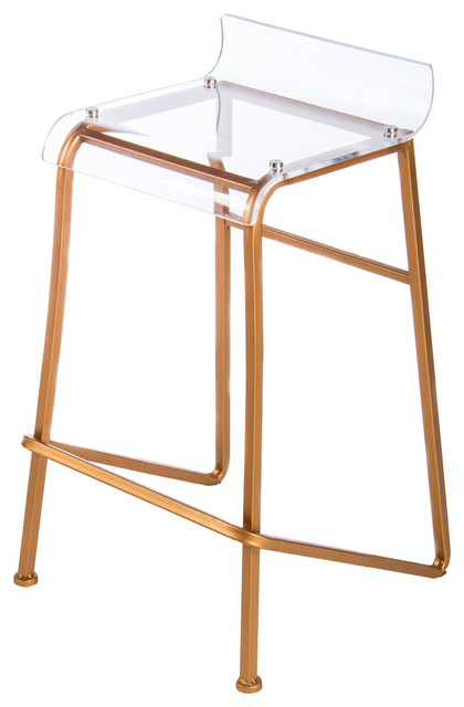 Acrylic Counter Stool Contemporary Bar Stools And