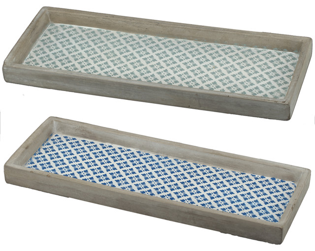 winston narrow decorative trays set of 2 farmhouse serving trays - Decorative Serving Trays