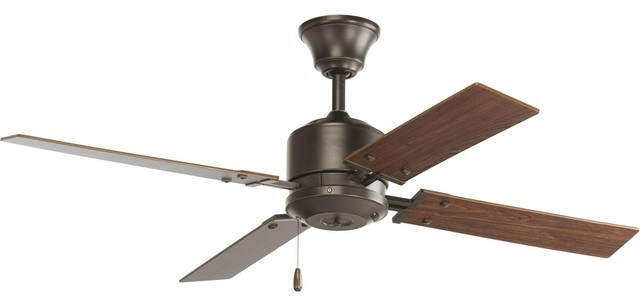 "Progress Lighting North Park 52"" 4-Blade Ceiling Fan, Antique Bronze."