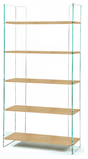 Zen Ex Libris Glass Bookcase Contemporary Bookcases