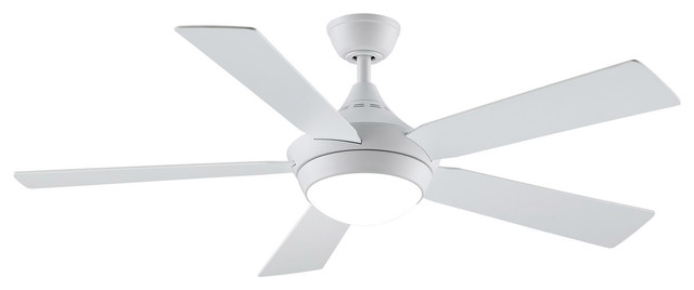 "Fanimation Celano V2 Fan, 52"", Matte White With Led Light."