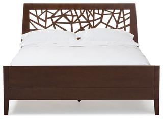 Jennifer Solid Wood Platform Base Bed Frame, Queen