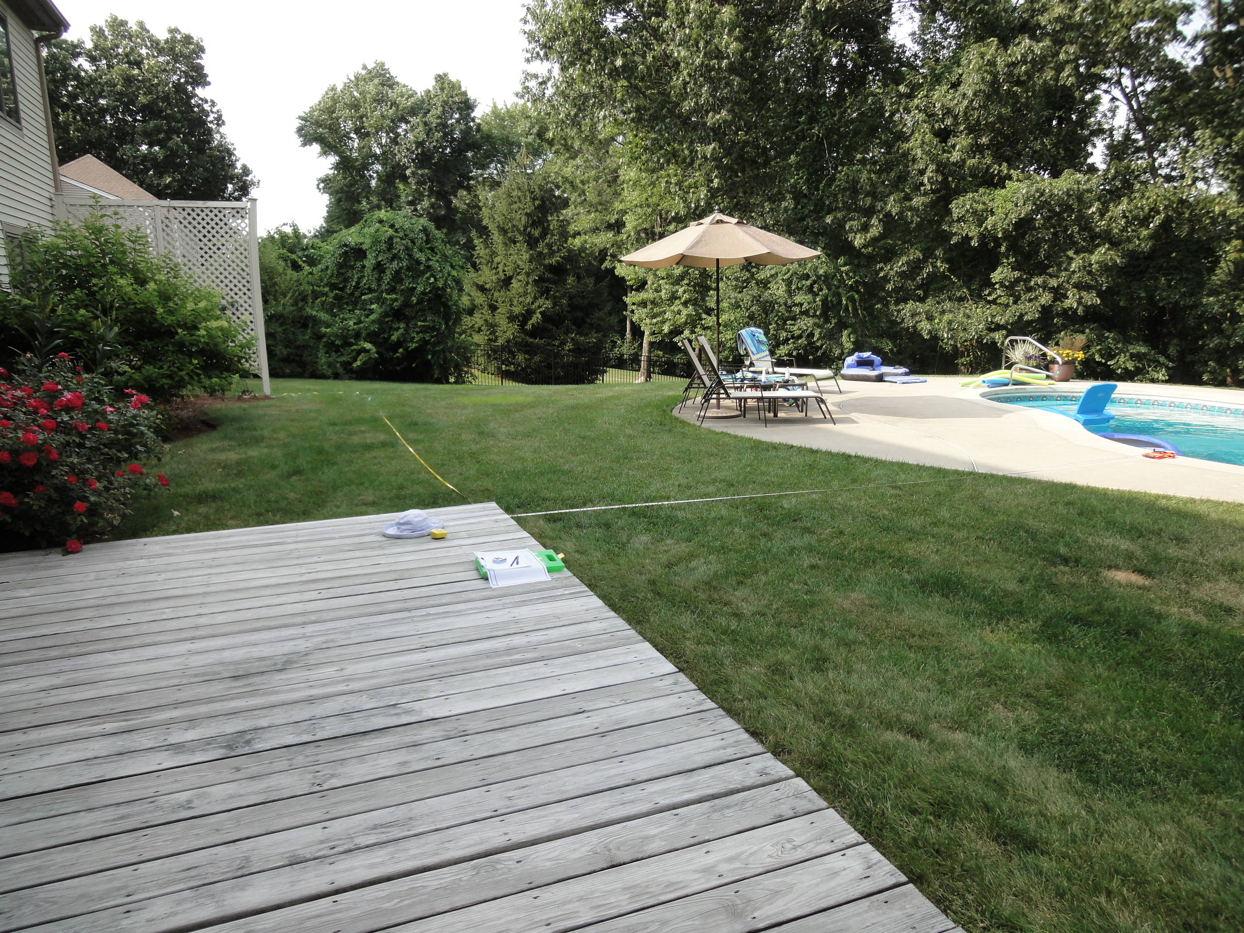 Pool Deck with Planters