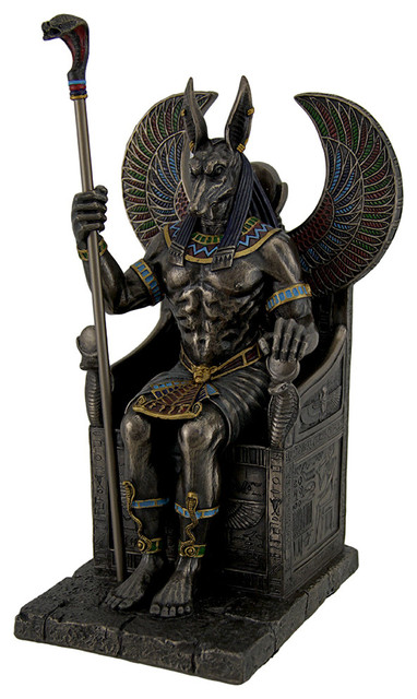 Shop Houzz Zeckos Bronze Finished Egyptian God Anubis On