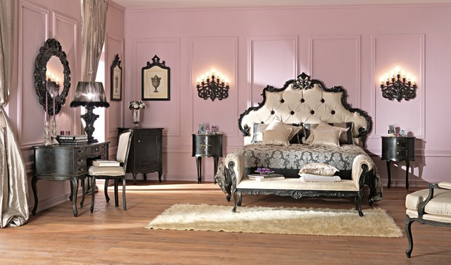 paris collection french rococo silk bed