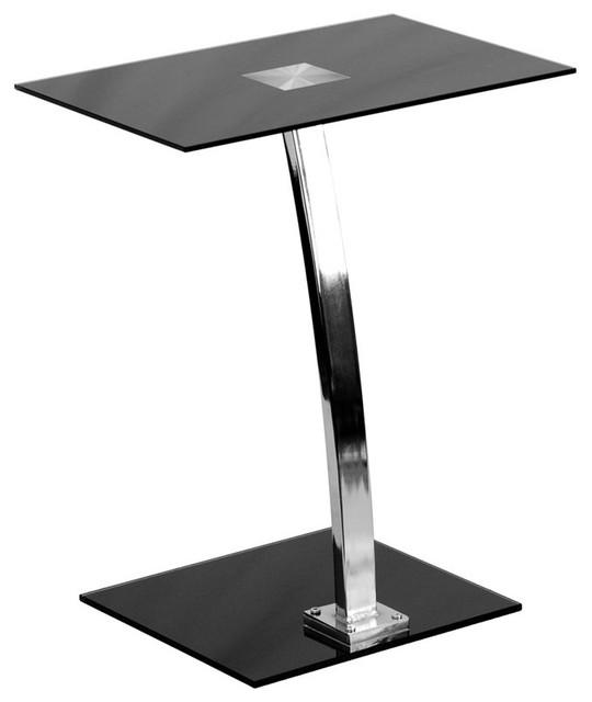 Millston Laptop Home/office Computer Desk W/silk Black Tempered Glass Top.