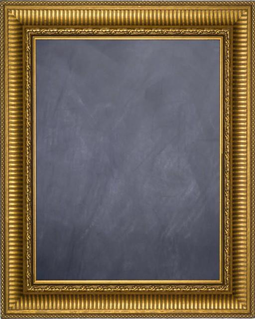 Framed Chalkboard 20 X 24 With Gold Finish Frame