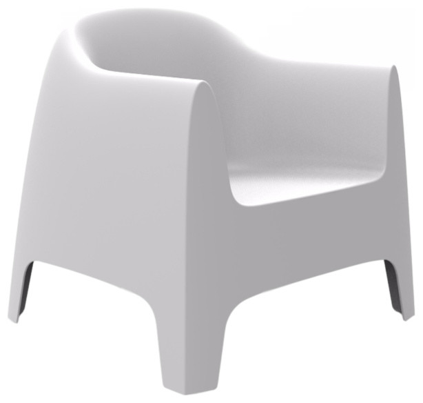 Incredible Vondom Solid Outdoor Lounge Chair White Inzonedesignstudio Interior Chair Design Inzonedesignstudiocom