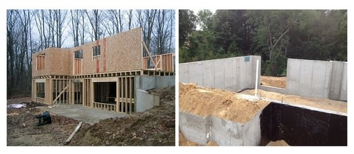 Walkout Basement   Poured Concrete Walkout Side V.S. Framed Wood