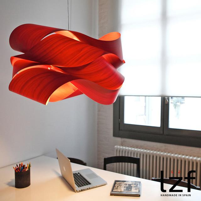 red pendant lighting. Link Pendant Light By LZF Modern-pendant-lighting Red Lighting