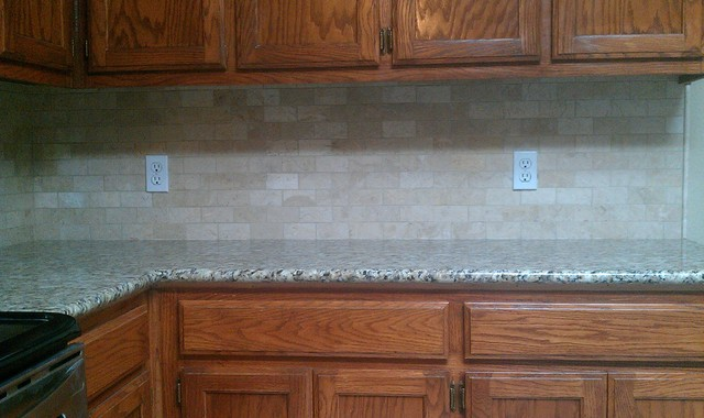kitchen backsplash marble subway tile liner tile contemporary