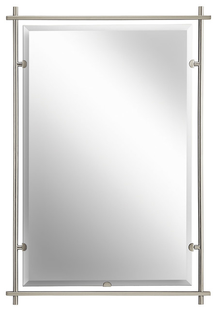 Kichler Lighting 41096NI Eileen Brushed Nickel Mirror Contemporary Bathroom  Mirrors