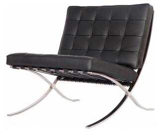 modern pavilion barcelona chair aniline leather contemporary