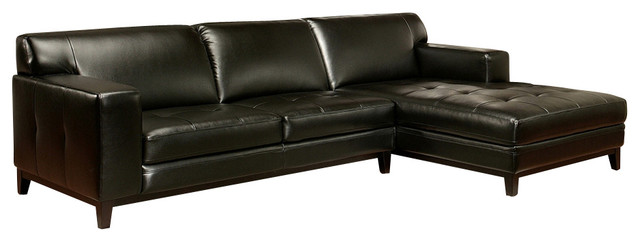 Encore Leather Sectional Sofa By Abbyson Living