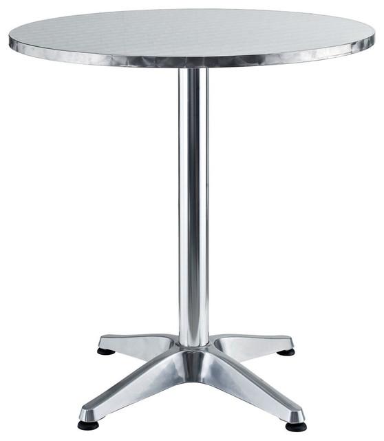Pool Modern Round Aluminum Indoor/Outdoor Table