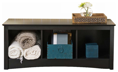 Prepac Sonoma Black Cubby Bed Bench