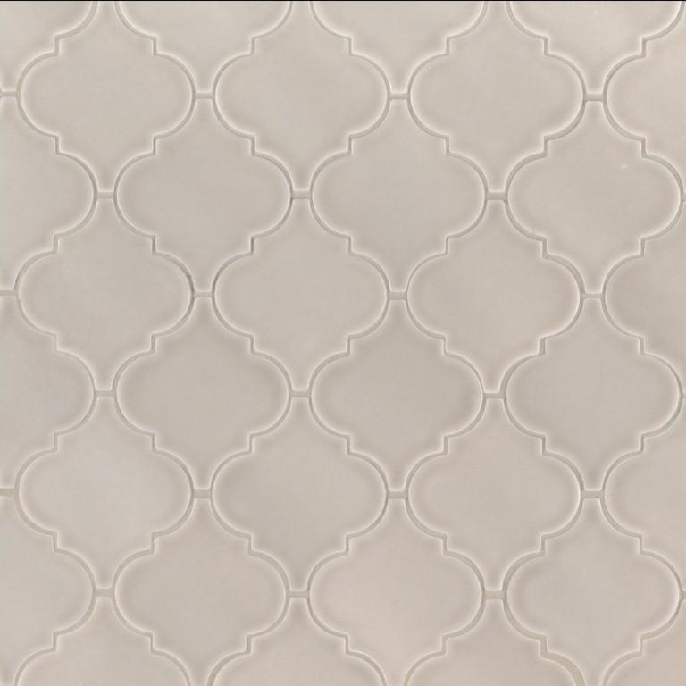Sample Of Portico Pearl Arabesque Glossy Ceramic Tile