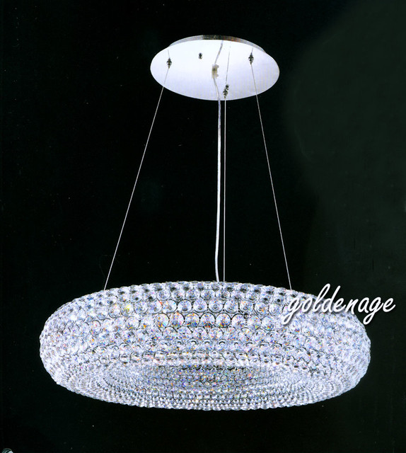 Crystal Chandelier In Donut Shape Led Light Chandelier