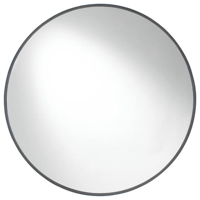 Contemporary Wall Mirror cordova round wall mirror - contemporary - wall mirrors -etriggerz