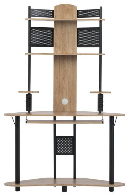 Desks Home Office Furniture Calico, Corner Tower Computer Desk