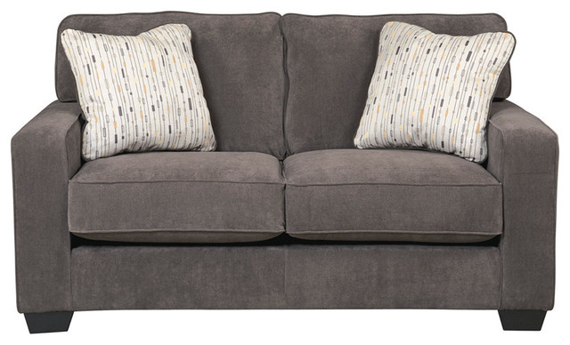 Flash Furniture Hodan Loveseat In Marble Microfiber.