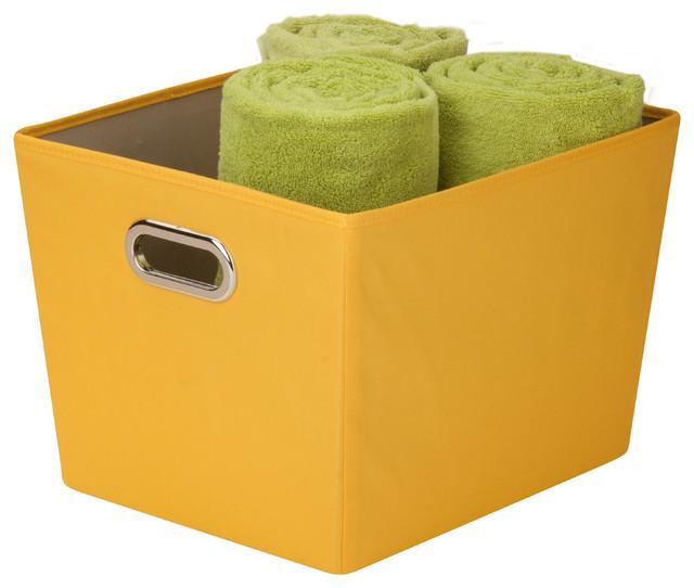 Amazing Medium Storage Bin, Yellow Contemporary Storage Bins And Boxes