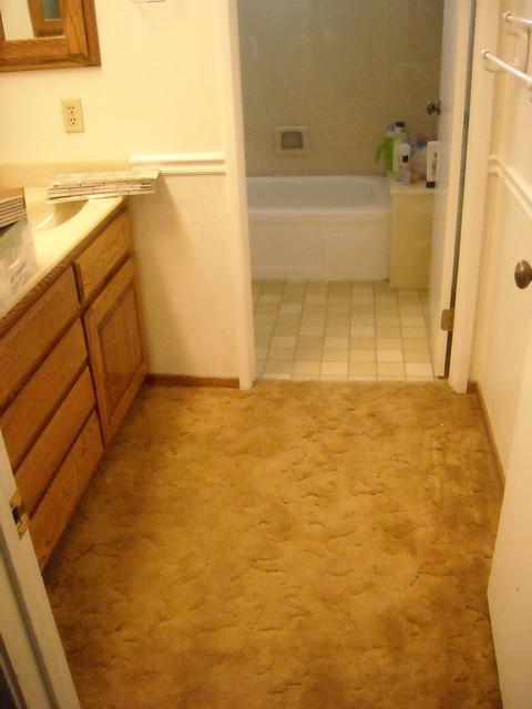 before small tile job