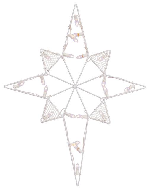 "39""x30"" Led C7 Wire Silh Star-Bethlehem."