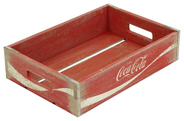 Vintage Inspired Half Coca Cola Crate Rustic Dog