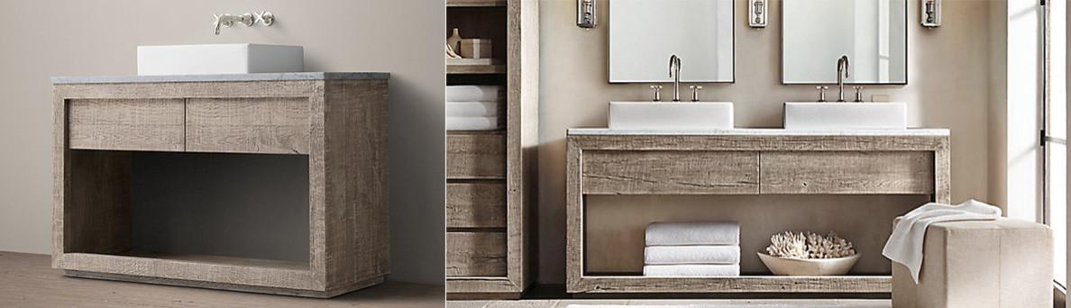 Muebles ba o madera natural for Modelos de muebles para banos modernos