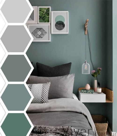 Bedroom Color Ideas With Accent Wall: Quel Ton De Vert Pour Mur Tete De Lit