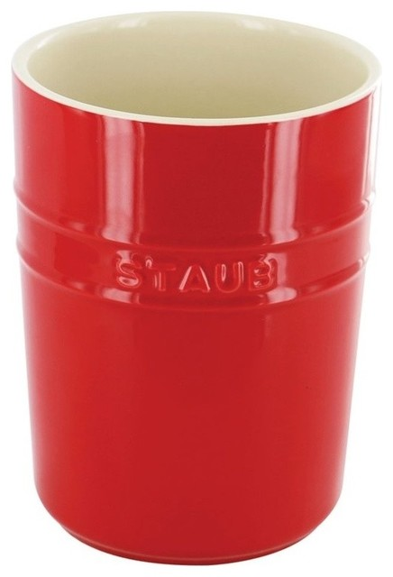 Staub Ceramic Utensil Holder, Cherry.