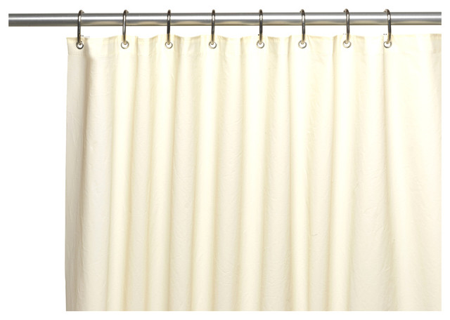 Carnation Home Fashions Extra Long Shower Curtain Liner Traditional Shower Curtains By
