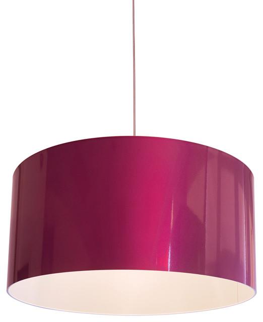Innermost Metallic Large Drum Pendant Light Pink