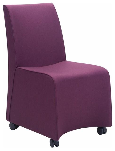 Excellent Zuo Modern Whittle Dining Chair Purple Set Of 2 Uwap Interior Chair Design Uwaporg