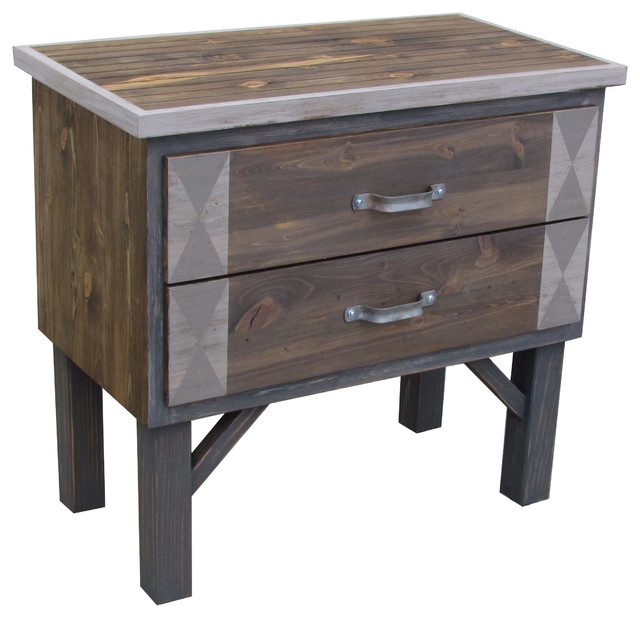 Quite Water Reclaimed Rustic Modern Wood Dresser, Washed Grays.