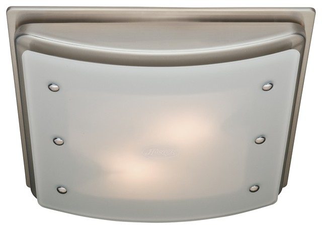 Ellipse Bathroom Ventilation Fan With Light And Night Light, Brushed Nickel  Transitional Bathroom