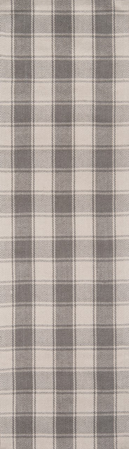 "Erin Gates By Momeni Marlborough Charles Gray Wool Runner 2&x27;3""x8&x27;."