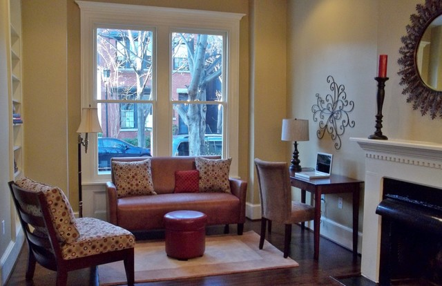 After Staging 1800u0027s Row House Sitting Parlor Living RoomTraditional Living  Room, Richmond