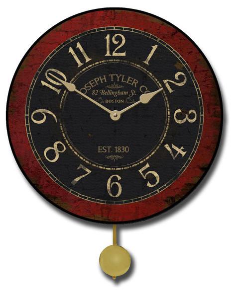 Bellingham street clock pendulum 15 contemporary wall clocks by clocks around the world - Contemporary pendulum wall clock ...