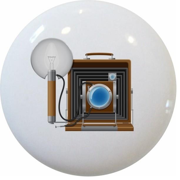 Vintage Camera Ceramic Knob