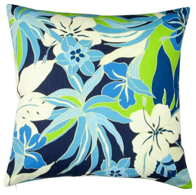 botanical pillow case blue pillow insect art pillow insert home decor pillow cover natural decor Butterflies pillow indigo