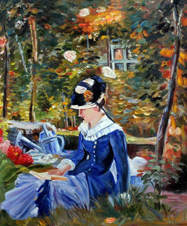 Manet Young Woman In The Garden Traditional