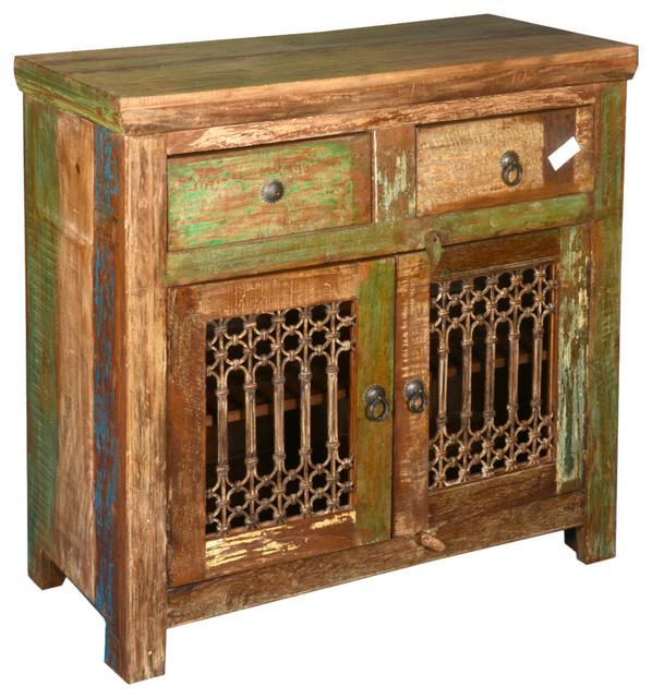 Beau Appalachian Reclaimed Wood U0026 Wrought Iron Storage Buffet Cabinet