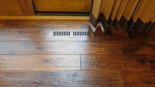 Two Different Wood Floors Meet Kitchen Flooring At Doorways