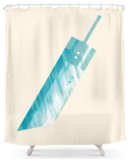 Society6 society6 final fantasy vii shower curtain for Fantasy shower curtains