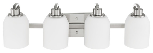 Davenport 4-Light Brushed Nickel Bath Light.