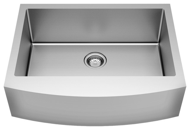 """American Standard Pekoe 33x22"""" Stainless Steel Apron Sink With Grid And Drain"""